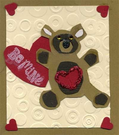 Teddy Bear Valentine Card for Toddler