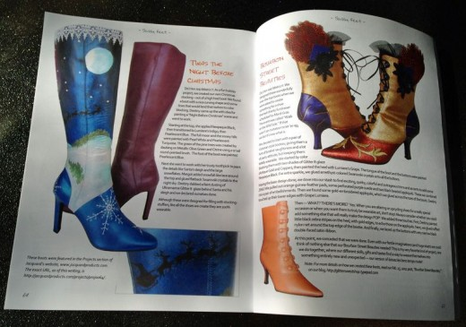 These hand painted and embellished leather boots positively rock!