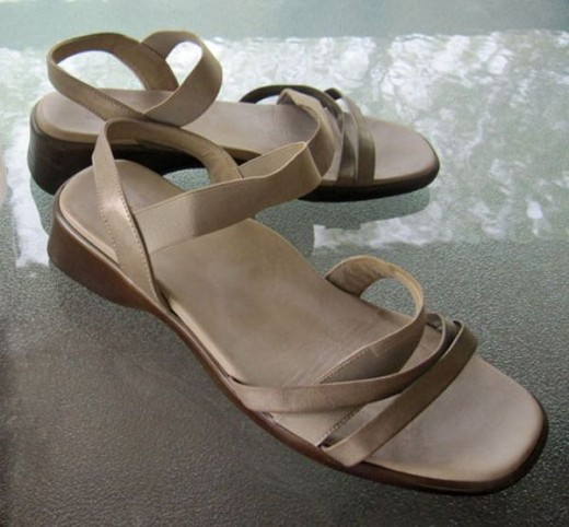 These sandals felt wonderful on my extra-wide feet, but they were seriously unfashionable.