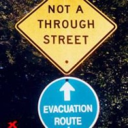 Do not take this route in case of an emergency.