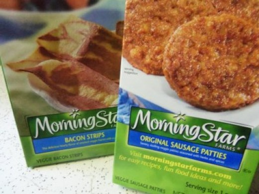 A bit of flavor ... Try adding Morning Star veggie sausage or bacon to your grits for a spicy flavor. Tastes great!