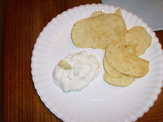 Clam dip ready to eat and enjoy!