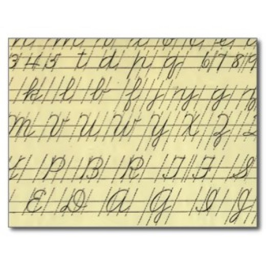 Letters in Cursive