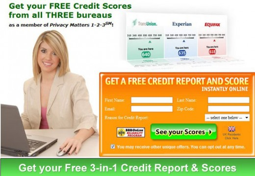 Transunion Free Credit Report Plus Experian and equifax