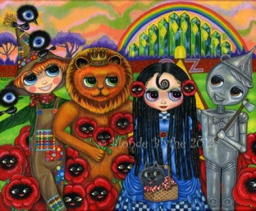 """The Wizard of Oz in Big-Eye"" by Blonde Blythe 2012"