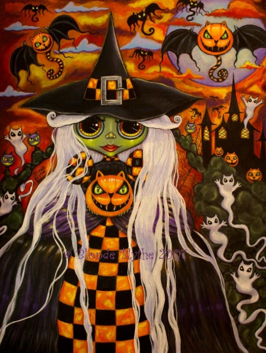 """Checkerboard Witch"" by Blonde Blythe"