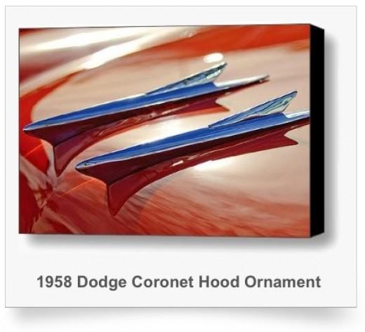 1958 Dodge Coronet Hood Ornament Art Print