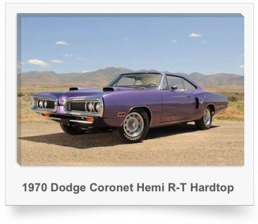 Art Print of a 1970 Dodge Coronet Hemi R-T