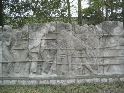 The sculptures and reliefs are very moving.