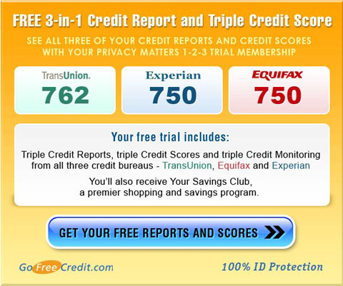 transunion free credit report plus equifax free credit report plus experian free credit report