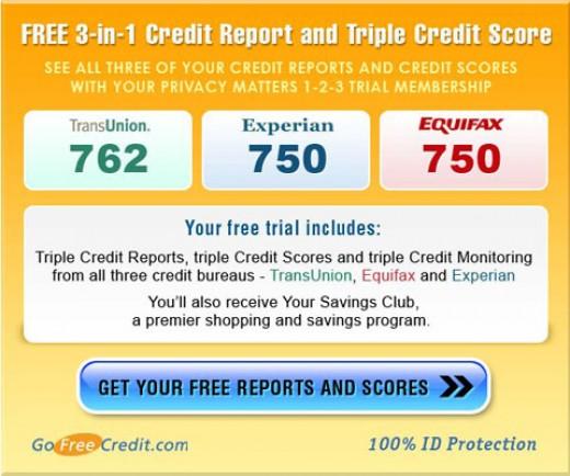 transunion free credit report plus equifax free credit report plus experian free credit report