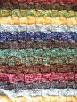 Detail of Basketweave Blanket