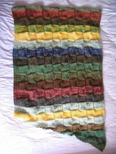Basketweave Blanket by Rachel Field