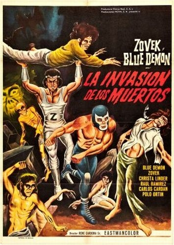 Blue Demon y Zovek en La invasión de los muertos (The Invasion of the Dead 1973)