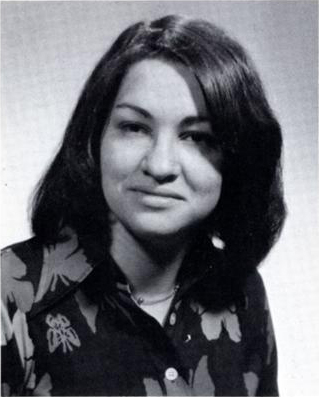 Her 1976 yearbook photo