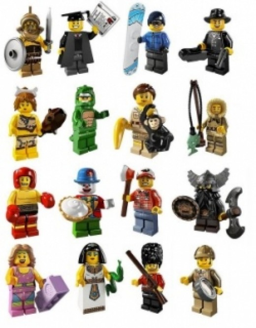 All the Series 5 minifigures