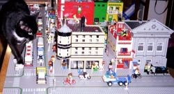 My LEGO City with our cat Zanda