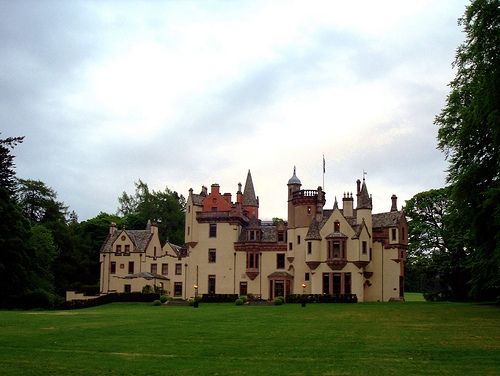 Aldourie Castle from the foot of the lawns.