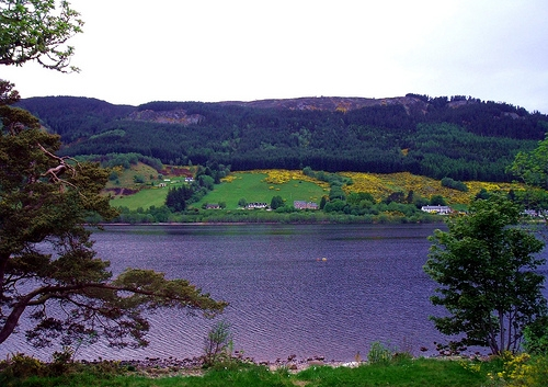 A beautiful view across Loch Ness from the lawns of Aldourie Castle.