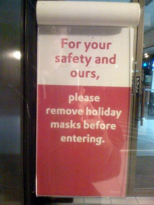 Halloween Bank Sign