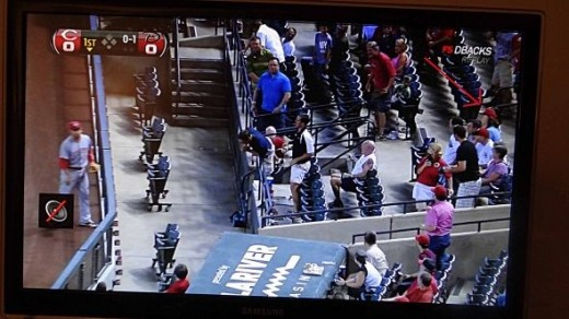 Me on Television!  Checking out the Game at Home that I Recorded