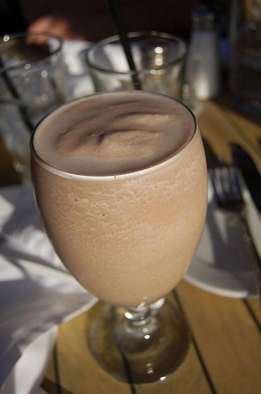 chocolate raw foods milkshake
