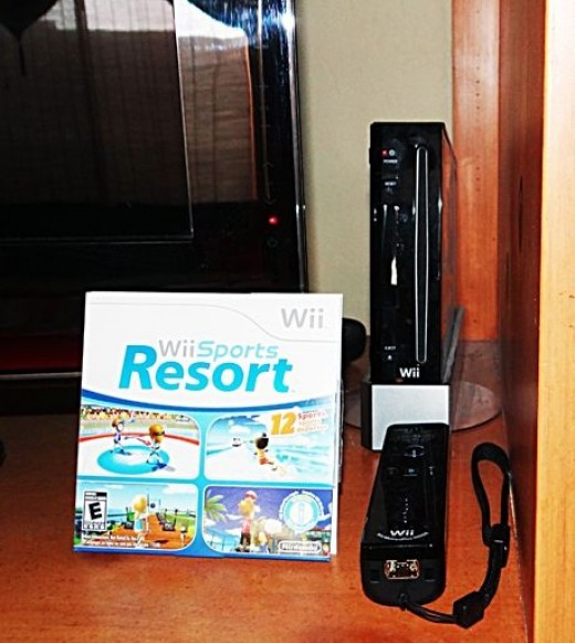 wii console with sports resort
