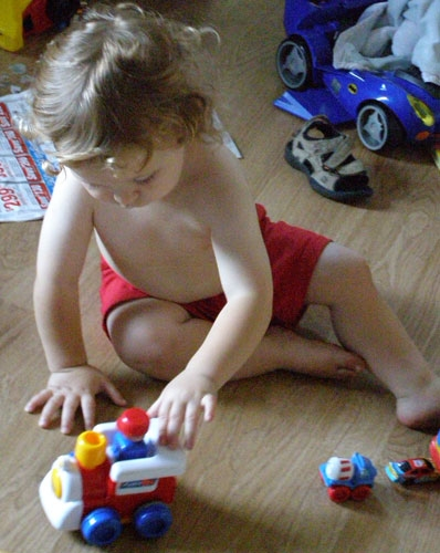 Boys love their cars - and girls like race cars too