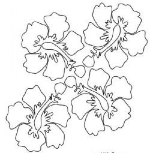 Digital stamps clip art digistamps for designers and for Coloring pages of hawaiian flowers