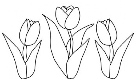 Colorful Flowers Painting Tulip Flowers Coloring Page