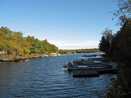 Take a look at the lake lot we have for sale. This is the cove that it's on.