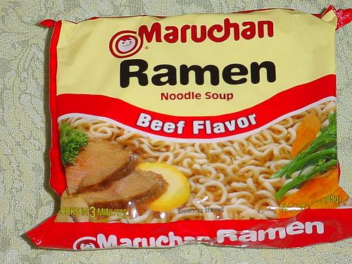 beef flavored Raman noodles