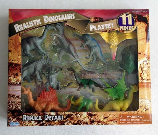 Just some of the many, many awesome dinosaur toys available at toy stores around the world.