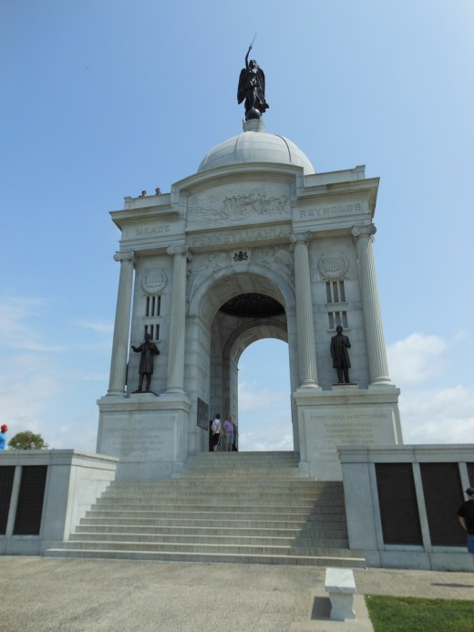 Approaching the Pennsylvania Monument