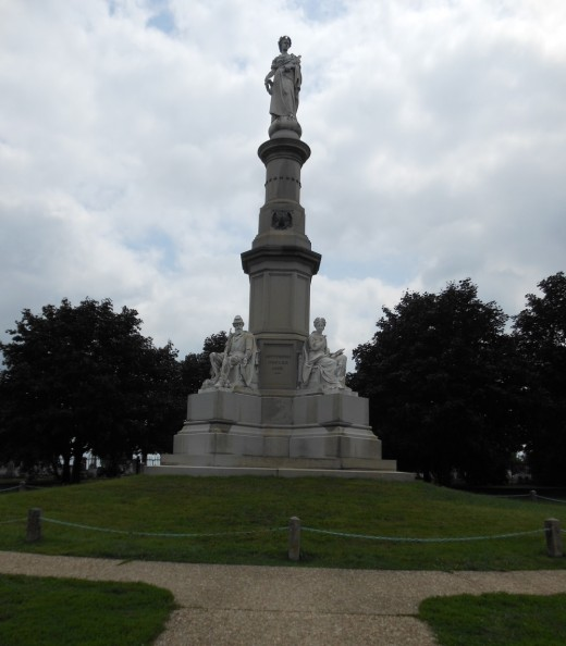 This is the spot where Abraham Lincoln made the Gettysburg Address.