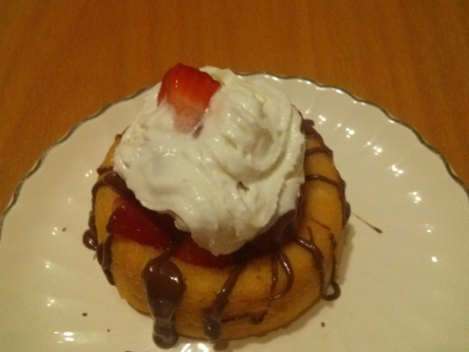 My strawberry shortcake with Nutella. Yum!