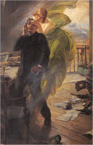 La muse verte by Albert Maignan