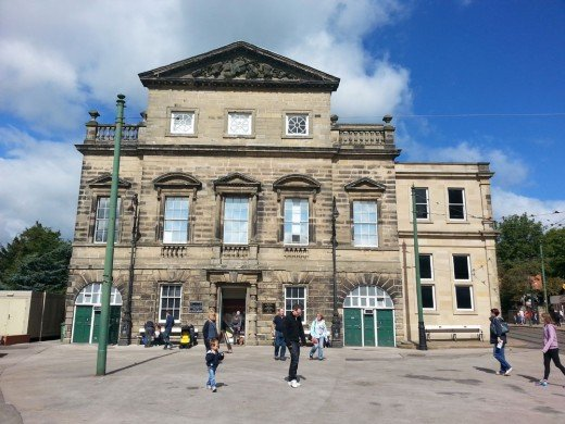 The Georgian Façade of the Old Derby Assembly Rooms at Crich