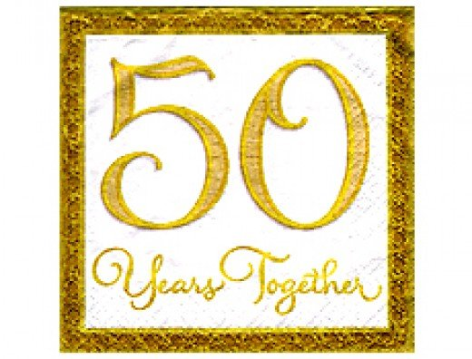 50 years together calls for a great, grand and golden celebration--A get together of the entire family!