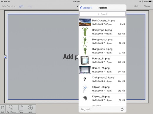 Browse for the folder called Tutorial and select the backdrop image from the list.