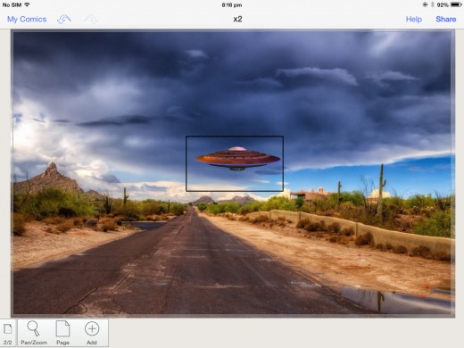 UFO imported with a black border.