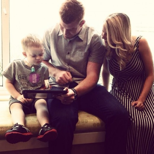 Andy and Jordan Dalton at Cincinnati Children's Hospital