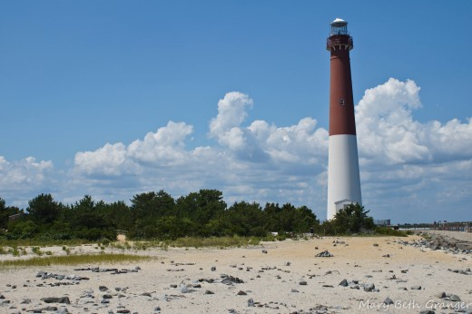 Lighthouse on New Jersey shore