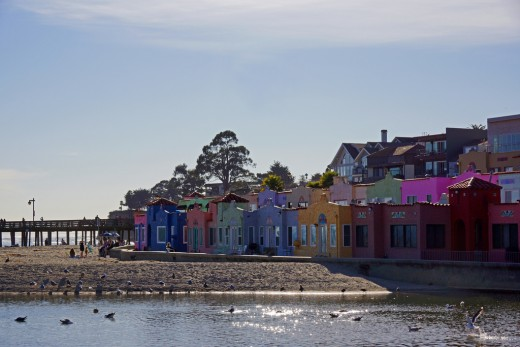Capitola's iconic and colorful waterfront.
