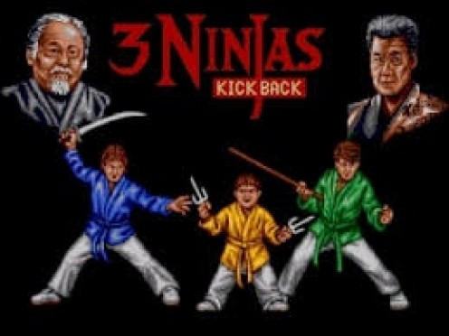 3 Ninjas Strike Back is an awesome fighting game that uses swords and other weapons during battle.