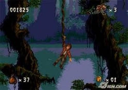 Pitfall for the Sega CD is a remake of the Atari hit.