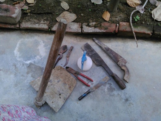 Tools and materials used in gardening