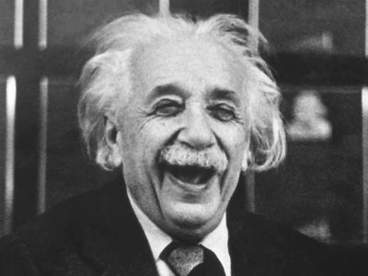 "Einstein only looked stupid. He actually was not stupid. Stupid people tend to think of him as ""one of us,"" but this isn't true. Only smart people know the truth."