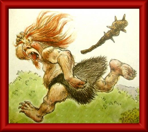 The terrible troll on the run!