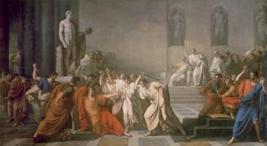 """""""Mort de César,"""" 1798, by Vincenzo Camuccini"""